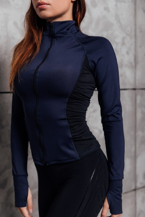 Толстовка training jacket basic dark blue